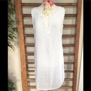 Cut•Loose White Cotton Pucker Tunic Size Medium